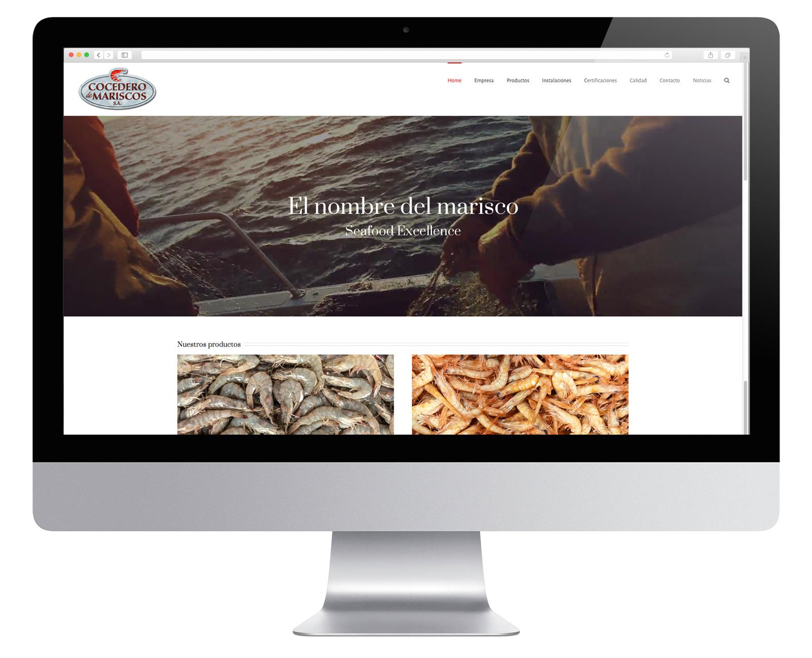 Actualización de la página web de Cocedero de Mariscos