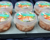 Colas de langostino en agua con sal